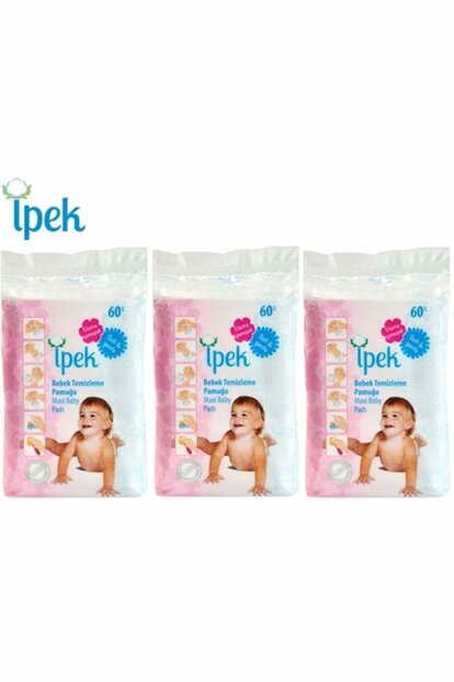 Baby Cleaning Cotton 180 Pieces (3Pk * 60) PACKETIP002