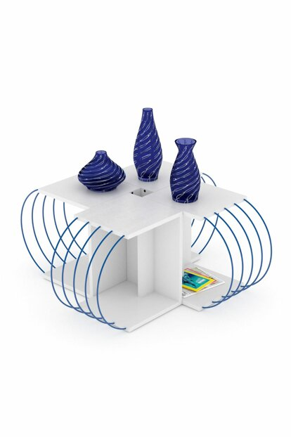 Case 4-Piece Table (White-Blue) RF170606