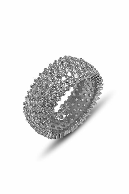 Women's Five Row Full Stoned Ring Silver Wedding Ring 2020021