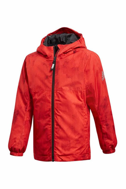 Red Unisex Children Coats BG LI J PAD AOP CY8895