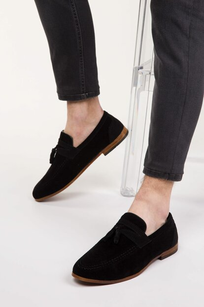 Black Suede Men's Shoes 2717