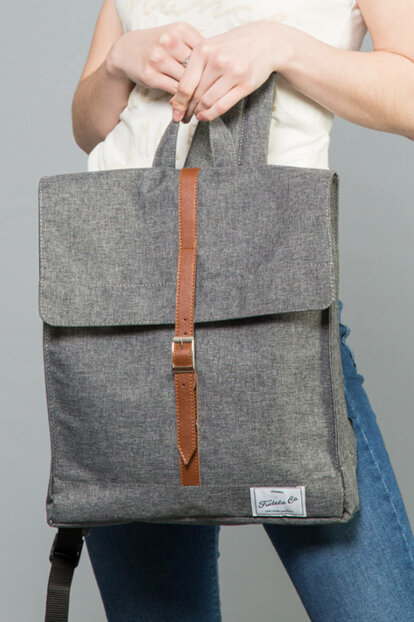 Gray Unisex Backpack MBS 04