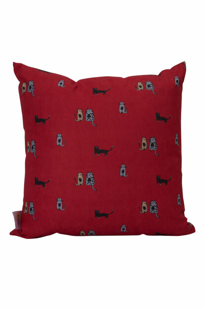 Cats in Istanbul Red Cushion BGD112490403