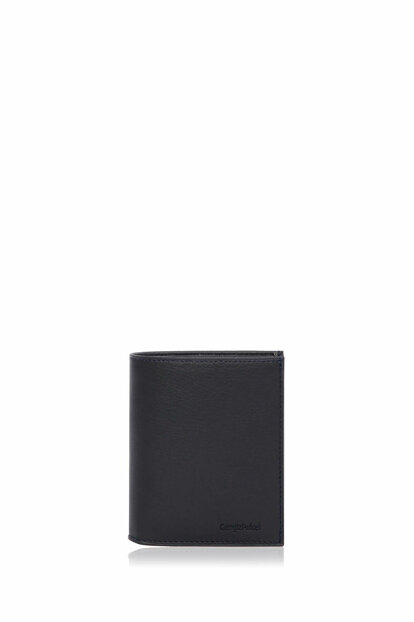Genuine Leather Black Men Wallet 13637