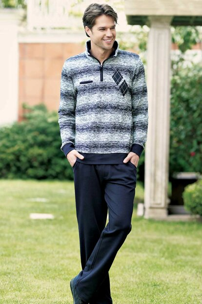 Men's Navy Blue Pajamas Set MEP23205-1