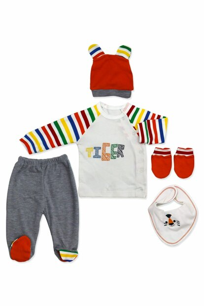 Colorful Striped Tiger Newborn 5 Li Baby Set K2869