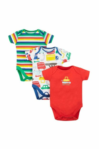 Baby Boy Short Sleeve Body - 3 Pack PD434