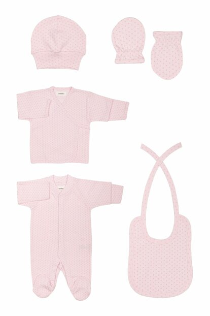 Organic Pink Hospital Outlet Set T_NEWBORNSET_10262