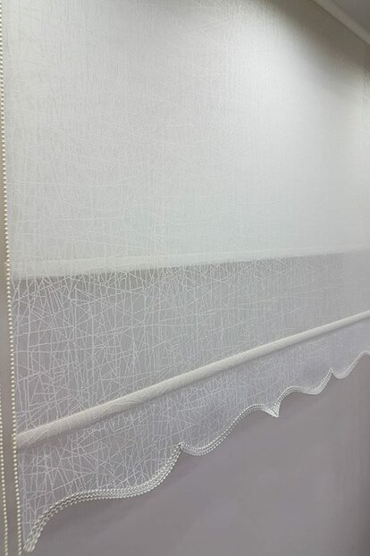 170X200 Double Mechanism Tulle Curtain and Roller Blinds MT1084 8605480846010
