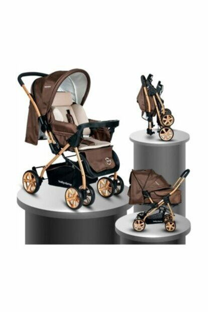 Baby Home Bh-760 Gold Bidirectional Baby Carriage Coffee 018-064-240