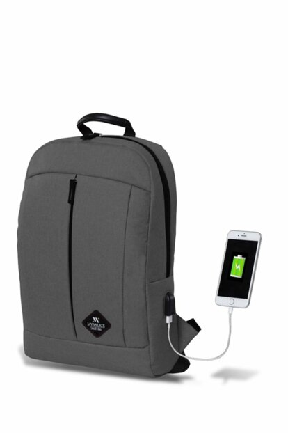 My Valice Smart Bag Galaxy USB Charging Port Backpack Gray / MV2822