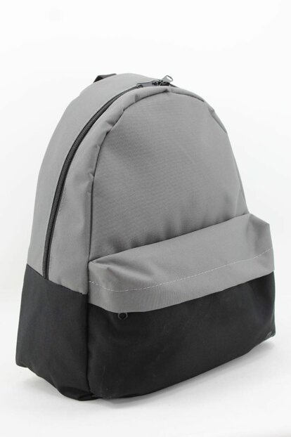 Gray Unisex Backpack 8564-Cloth 8564-BEZ