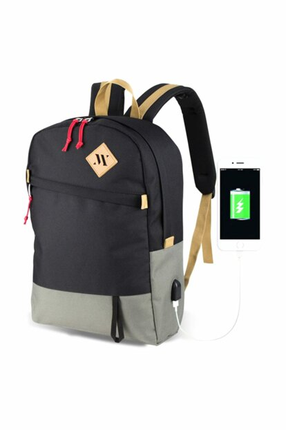My Valice Smart Bag Freedom Usb Charging Port Smart Backpack Black-Gray / MV4987