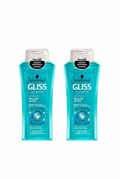 Mıllon Gloss Shampoo 360 ml x2 SET.HNKL.124