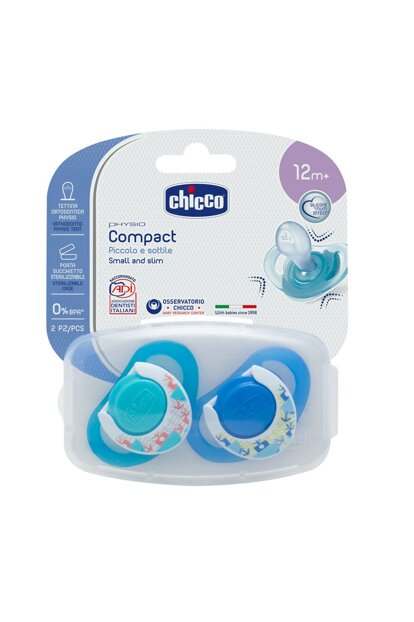 Physio Compact Silicone Nipple 2 Pieces 12 Months Male