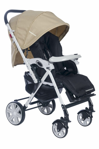 Tb-2090 White Aluminum Bidirectional Baby Stroller Cream / TB-2090-2