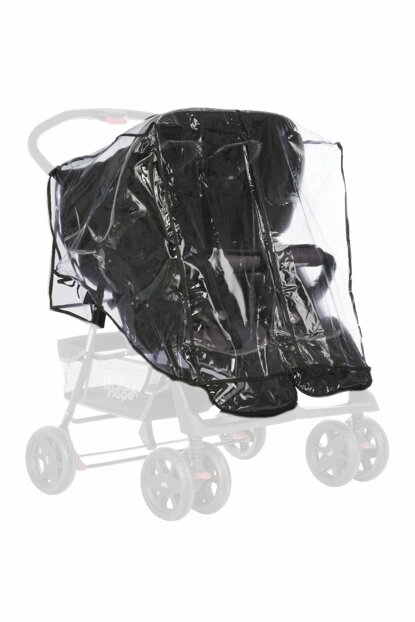Side by Side Twin Stroller Raincoat - Twin Raincoat - Protection ikizyanyana287