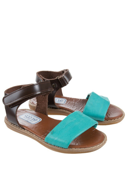 Leather Baby Girl Sandals Blue SBAKCSDLT1131_00-0048