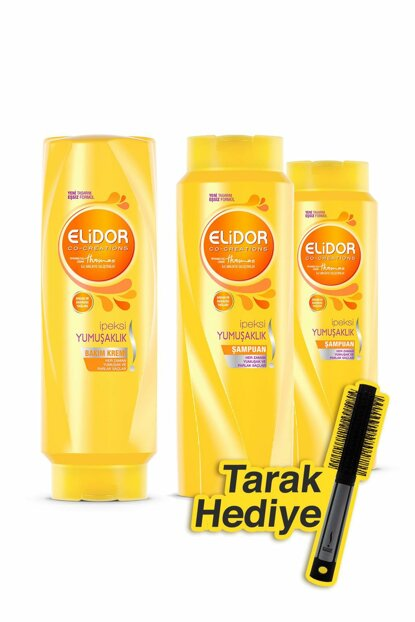 Shampoo Silky Softness 500 Ml X2 + Conditioner 500 Ml + Comb Gift SET.UNI.500