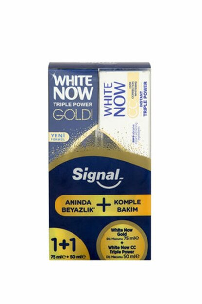 White Now Gold 75 ml + White Now CC 50 ml Toothpaste 8690637851704