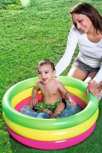 Baby Pool Inflatable Ground 3 Rings 70 * 24 Cm / W51128