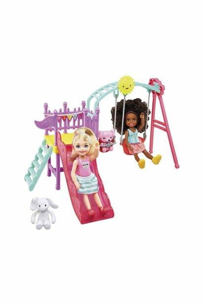 Barbie Chelsea And Her Friend On The Playground / BRB / FTF93