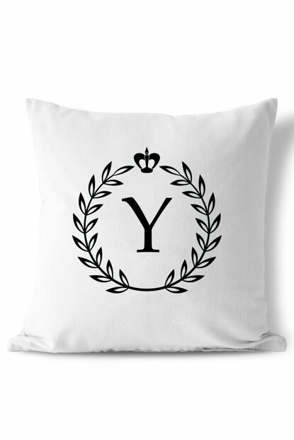 Letter Y Wreath Design Pillow 153BYZ
