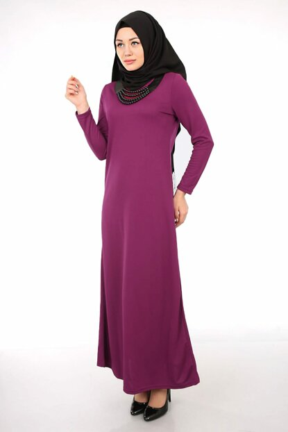 Women's Plum Necklace Dress 1545BGD19_037