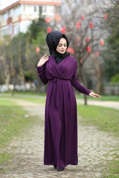Women's Purple Dress 01918YBELB08008
