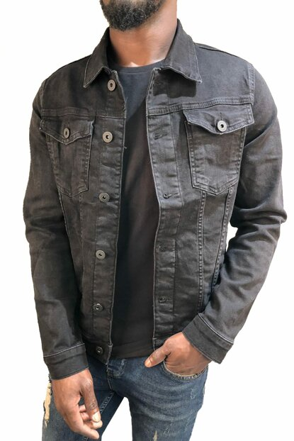 Men's Denim Jacket Slim Fit o7zy5cc6r