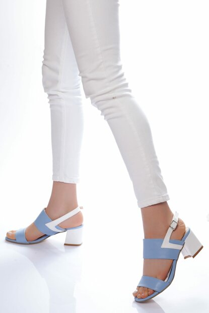 Blue White Women High Heels Shoes LDS0050