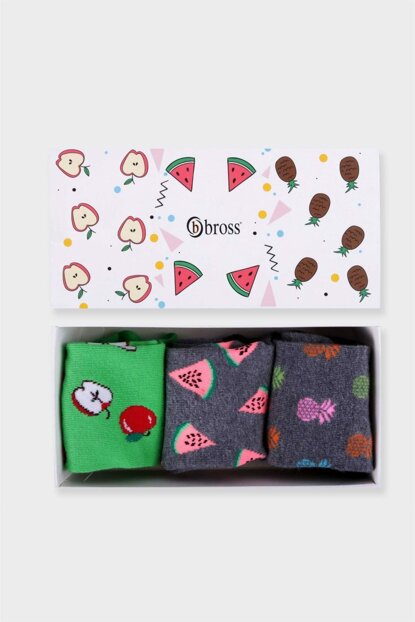 Women's Asorti 3 Pack Fruit Socks ONL-00222