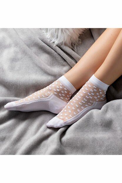 Women's Socket With Transparent Pattern 1KCORP0139