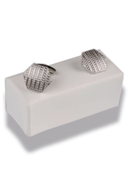 Silver Color Hexagon Cufflink KD385 KRVT8690000007090