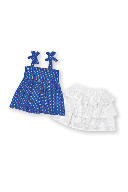 Blue Girls' Skirt Suit WK15S3109