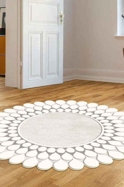 160x160 Dekoreko Figured Round Custom Cutting Carpet 111 Beige AKC_Eugene-V3_4655_2