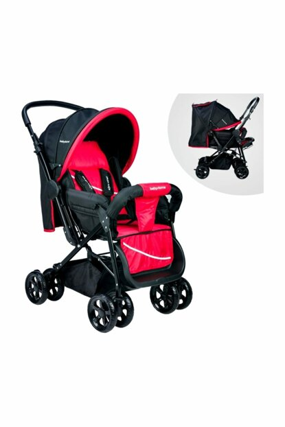 Baby Home Bh-655 Pacific Two Way Baby Carriage Black - Red / 007.022.021