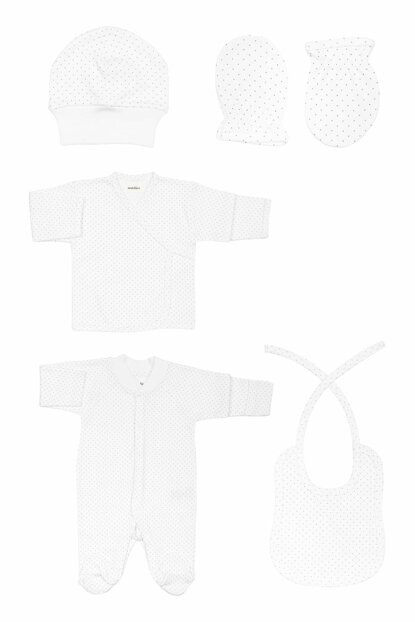 Organic White Hospital Outlet Set T_NEWBORNSET_10262