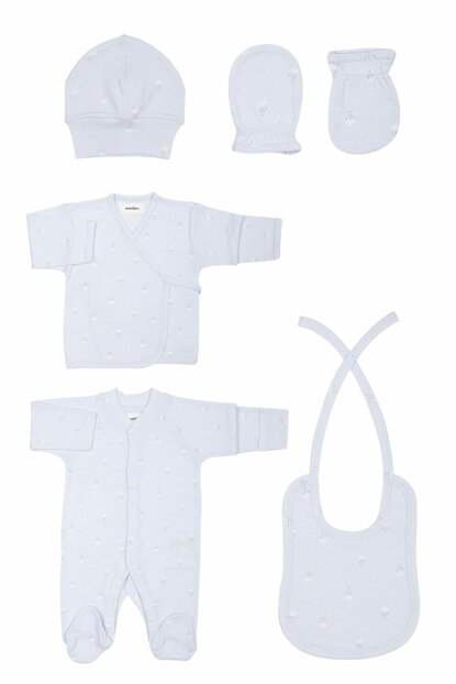 Organic Blue Hospital Outlet Set T_NEWBORNSET_10261