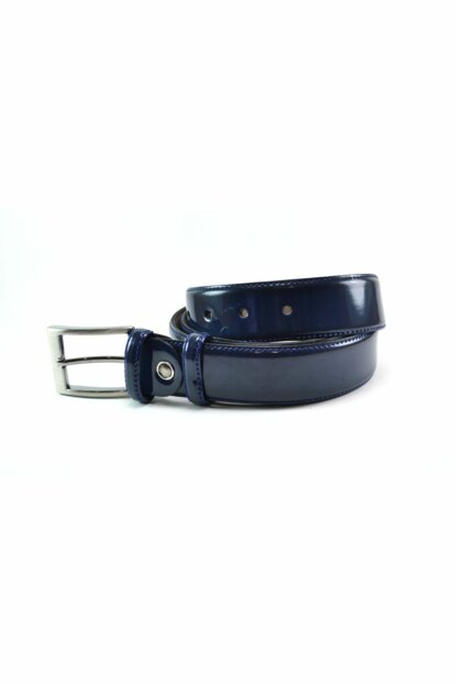 BIG SIZE BELT Navy Blue Patent Leather 23006