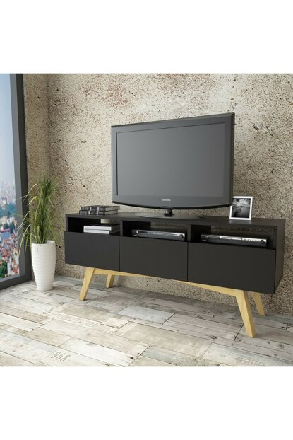 WN21 Solid Tv Unit 3 Clamshell Pine Skeleton 2 Colors TY-1073836