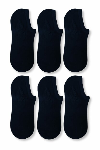 Men's Navy Blue Bamboo Invisible Sport Shoes Socks ELF568UMBERTO317CM6