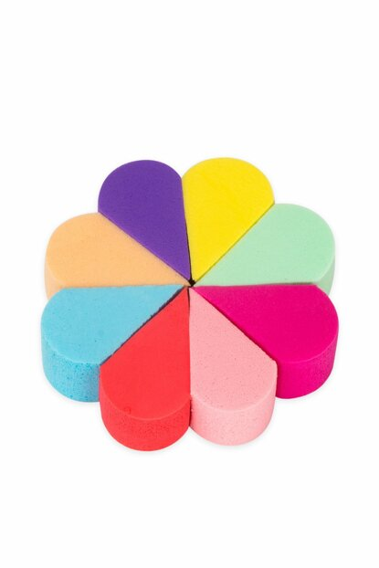Colorful Makeup Sponge With 8 Pieces 8680097211064