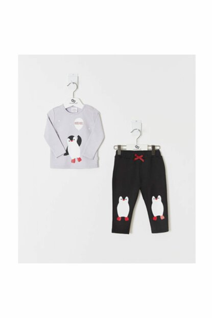 Gray Girl Baby Girl Set of 2