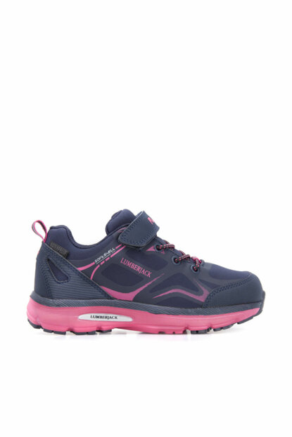 Navy Blue Fuchsia Kids Shoes MELDON