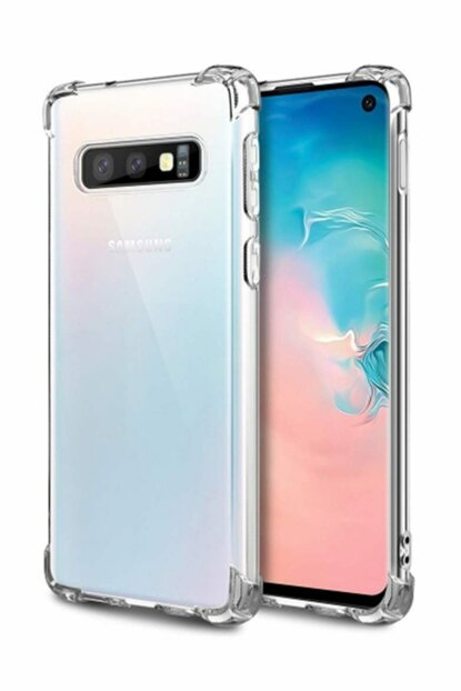 Rich Shop Samsung Galaxy S10E Ultra Thin Transparent Airbag Anti Shock Silicone Case - Transparent S10ESEFFAF