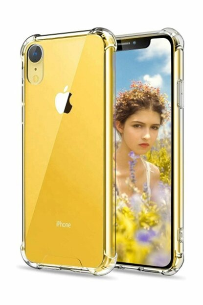 Rich Shop Apple iPhone XR Ultra Thin Transparent Airbag Anti Shock Silicone Case - Transparent