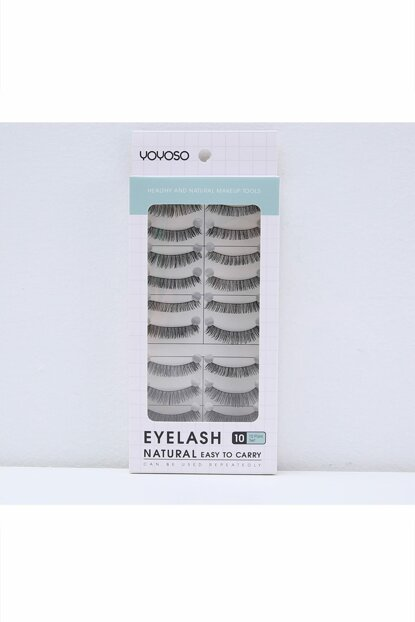 10 pcs Light & Natural Looking False Eyelash Set