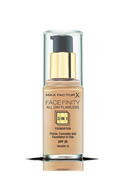 Foundation - FaceFinity All Day Flawless Foundation 075 Golden 30 ml 5410076971671 FCFNY3U1FON