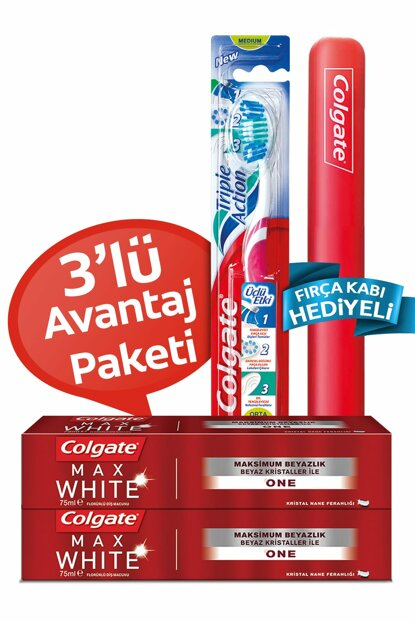 Max White One Whitening Toothpaste 2 x 75 ml + Triple Effect Toothbrush 692035480585129